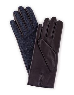 b63d632bde3 Leather Gloves With Black Watch   Women s Gloves