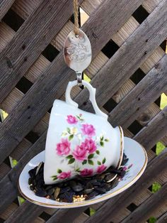 Garden Bird Feeders, Silver Spoons, Perfect Gift For Her, Garden Ornaments, Upcycled Vintage, Teacup, Gifts For Mom, My Etsy Shop, Crown