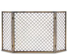 Pilgrim Hartwick 3 Panel Screen - Antique Brass