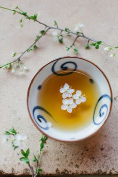"""teatimewithemma: """" Blossom tea (by ingwervanille) """""""