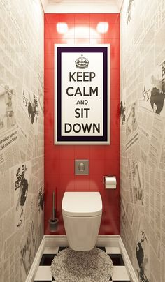 Excite Your Site visitors with These 30 Charming Half-Bathroom Styles Cafe Interior, Office Interior Design, Bathroom Interior Design, Office Interiors, Wc Decoration, Toilette Design, Restroom Design, Toilet Room, Downstairs Toilet