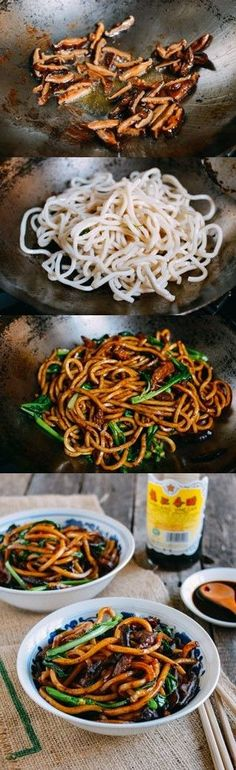 Shanghai Fried Noodles (Cu Chao Mian) Shanghai Fried Noodles recipe by The Woks of Life Wok Recipes, Asian Recipes, Dinner Recipes, Cooking Recipes, Healthy Recipes, Ethnic Recipes, Oriental Recipes, Pear Recipes, Oriental Food