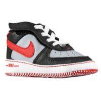 Nike Air Force One Crib - Boys' Infant - Grey / Black