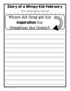 Diary of a Wimpy Kid Text Dependent Questions Wimpy Kid Series, Text Based Evidence, Text Dependent Questions, Magic Treehouse, Chapter Books, Text Me, Read Aloud, Book Activities, Lesson Plans
