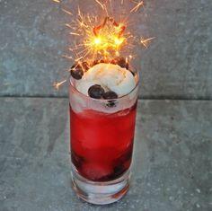 Bourbon Blueberry Coconut Float