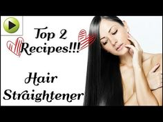 See How She's Straightening Her Hair Naturally With Some Ingredients You Have At Home - Cures House