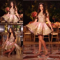 2017 New Sexy Pink Homecoming Dresses Off Shoulder Gold Lace Appliques Crystal Beaded Short Mini Party Dress Plus Size Formal Cocktail Gowns 2017 Homecoming Short Dresses Homecoming Cocktail Dress Graduation Dresses Online with $147.43/Piece on Yes_mrs's Store   DHgate.com