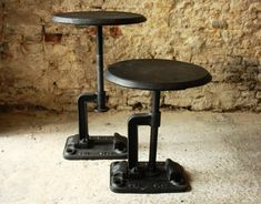 adjustable industrial stools.