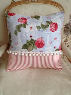French Country Pillow Cover Shabby Chic Pillow Cover Sham