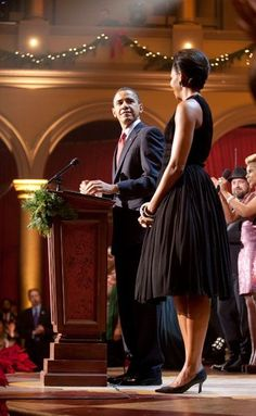 Michelle Obama in Vintage Norell