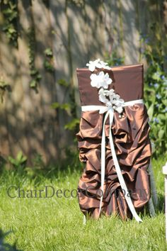 Unique taffeta chair sash by TheChairDecorCompany on Etsy, £25.00