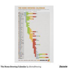 The Home Brewing Calendar Poster