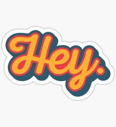 """""""Australian Cattle Dog, Blue Heeler Puppy, """"Hey Cutie"""" by Artwork by AK"""" Stickers by artworkbyak Tumblr Stickers, Phone Stickers, Cool Stickers, Printable Stickers, Preppy Stickers, Snapchat Stickers, Macbook Stickers, Kawaii Stickers, Homemade Stickers"""