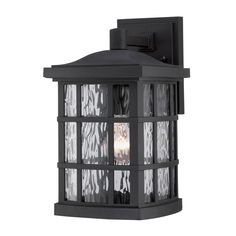Quoizel SNN840 PN 1-Light Stonington Outdoor Wall Lantern | ATG Stores