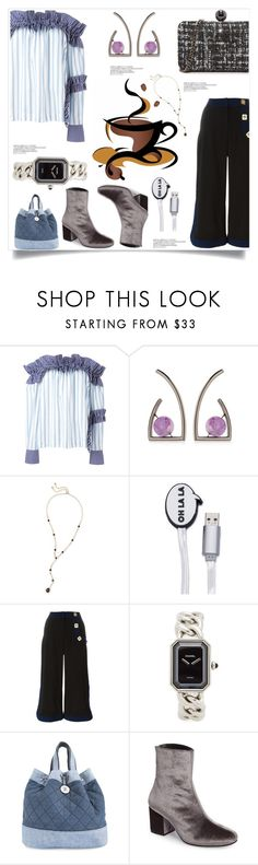 """How am i looking.."" by camry-brynn ❤ liked on Polyvore featuring MSGM, URiBE, Kendra Scott, Iphoria and Chanel"