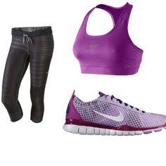 Purple workout wear #nike workout-wear