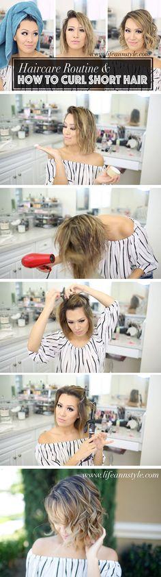 How to Curl Short Hair 101 / Learn how using the right products can make a huge difference.