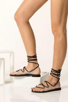 Handmade of quality vegan leather and transparent PVC, the Chrystal lace ups wrap around the ankle with soft cord. Minimalist and chic these flat sandals will work with almost any look. They are great for elevating casual outfits or grounding your formal summer outfits. Greek Chic Handmades sandals are handcrafted in Athens and designed to accompany you everywhere. From the city to beach escapades & resort evenings. Set your destination to Greek Chic and find your perfect pair of Greek…