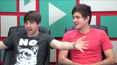 Ian Hecox and Anthony Padilla on youtubers react
