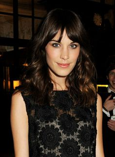 Alexa Chung: Known for her chic wash-and-go hair, Alexa Chung is the queen of fuss-free fringe. The trick is to not overstyle: just rough-dry your bangs and let them fall as they wish.