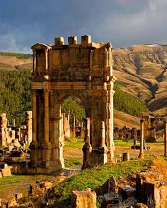 Djemila(setif algéria), is famous for the ruins of the ancient Cuicul Roman city