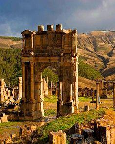 SETIF-DJAMILA  Algérie. Ruines romaines.