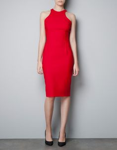 Love this - they have in cobalt too RACER BACK DRESS - Dresses - Woman - ZARA