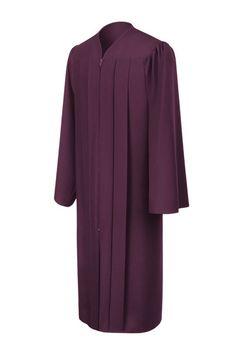 143c34b5b9a Matte Maroon Graduation Gown - Elementary School Graduation Gowns