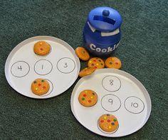 Cada galleta con su número