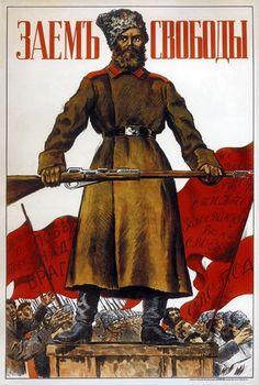 ANTI CAPITALIST propaganda vintage poster DENISOV SOVIET Union 1920 24X36