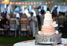 Ombre Wedding Cake // Photography by: Leah Haydock // TheKnot.com