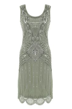 GREY SEQUIN CHARLESTON FLAPPER uk 8 16 GATSBY dress 20's ART DECO silver in Clothes, Shoes & Accessories, Women's Clothing, Dresses | eBay