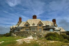 Newport Rhode Island Mansions | The Waves Mansion from Cliff Walk in Newport. Rhode Island, March 15 ...