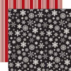 Carta Bella Paper - Christmas Delivery Collection - 12 x 12 Double Sided Paper - Christmas Snowflakes Christmas Words, Plaid Christmas, Christmas Crafts, Paper Snowflakes, Christmas Snowflakes, Echo Park Paper, Decorative Tape, Jingle All The Way, White Snowflake