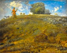 """""""In the Auvergne""""  Artist: Jean-Francois Millet  Completion Date: 1869  Place of Creation: France"""