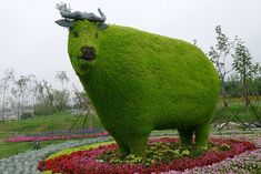 Living sculptures: The exhibition in   China, including this cow