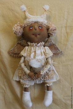 Зимний Ангел - бежевый,примитив,примитивная кукла,примитивы,текстильная кукла