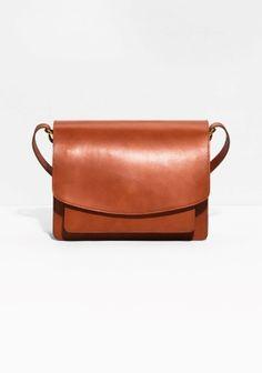 & Other Stories | Saddle Stitch Leather Shoulder Bag