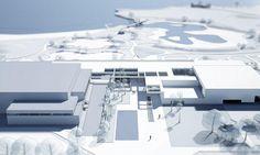 Het Nederlandse architectenbureau VenhoevenCS mag het nieuwe complex ontwerpen van zwembad in het provinciaal sport- en recreatiecentrum De Nekker in Meche