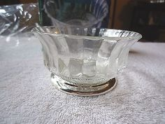 "Vintage Genuine Crystal & Silverplate Pedestal Bowl "" BEAUTIFUL COLLECTABLE ITEM #vintage #collectibles #kitchen #home"