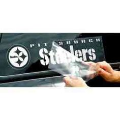 Shop the Official Steelers Pro Shop for Pittsburgh Steelers Die-Cut Window Decal Steelers Pics, Pittsburgh Steelers Football, Steeler Nation, Picture Logo, Window Decals, Die Cutting, Office Decor, Windows, Steel Wheels