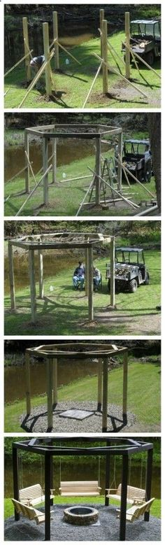 Swings Around the Campfire = gorgeous!!!! - Outdoor Ideas