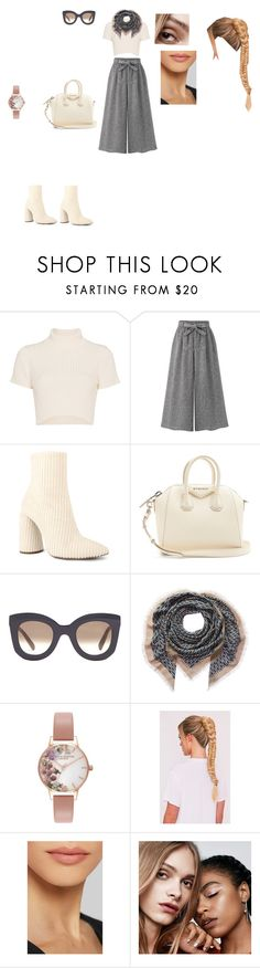 """Casual Outfit"" by helena94-1 on Polyvore featuring Staud, WithChic, Givenchy, CÉLINE, Hermès, Olivia Burton, Charlotte Tilbury, MILK MAKEUP and polyvorefashion"