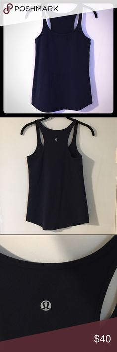Lululemon navy tank Dark navy tank in a thicker racerback style. I think this is the studio racerback? Fitted style. Excellent condition, 👍bundles lululemon athletica Tops Tank Tops