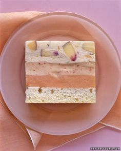 Peaches-and-Cream Ice Cream Cake Recipe