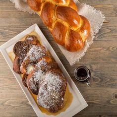 Nugget Markets Challah French Toast with Bourbon Maple Syrup Recipe Bourbon Maple Syrup, Maple Syrup Recipes, Organic Maple Syrup, Challah French Toast, Make French Toast, Breakfast Bites, Recipe Images, Brunch Recipes, Bakery