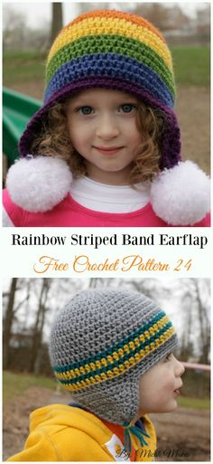 DIY Crochet EarFlap Hat Free Patterns  Picture Instructions  024460a98d7f
