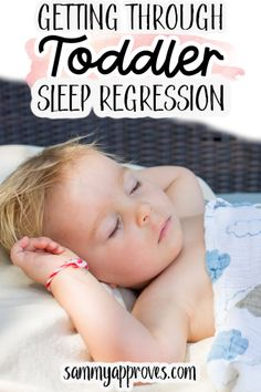 SLEEP REGRESSION IN TODDLERS IS COMMON. It's a battle that many parents fight and lose every day.  The National Sleep Foundation suggests that toddlers and preschoolers ages 1-4 get 11-14 hours of sleep per day!  Reading statistics like this can be frustrating as a parent of a toddler who never sleeps.  Sleep with a toddler can quickly turn into a roller coaster ride. One day they are sleeping in their beds, the next they are up all night, then they are sneaking into your bed, or…