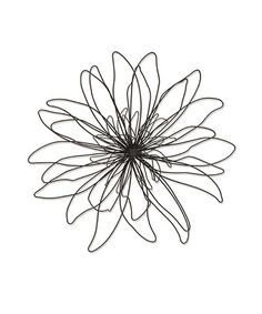 Loving this Small Zinnia Boho Wire Wall Art on #zulily! #zulilyfinds.  Note by C:Maybe use clothes hangers to make this