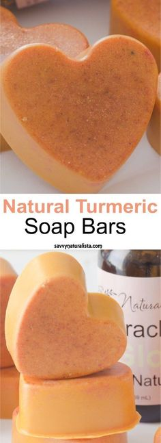DIY natural/ organic Turmeric Soap Bars. Natural diy, skincare, beauty tips, skincare tips and trick, beauty tricks.